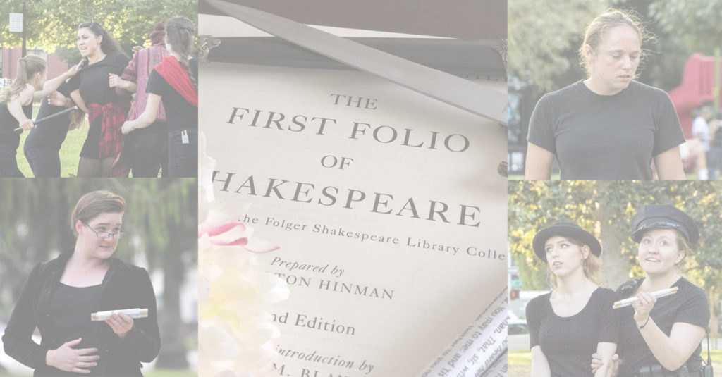 First Folio image with four images of Wildflower Ensemble Members