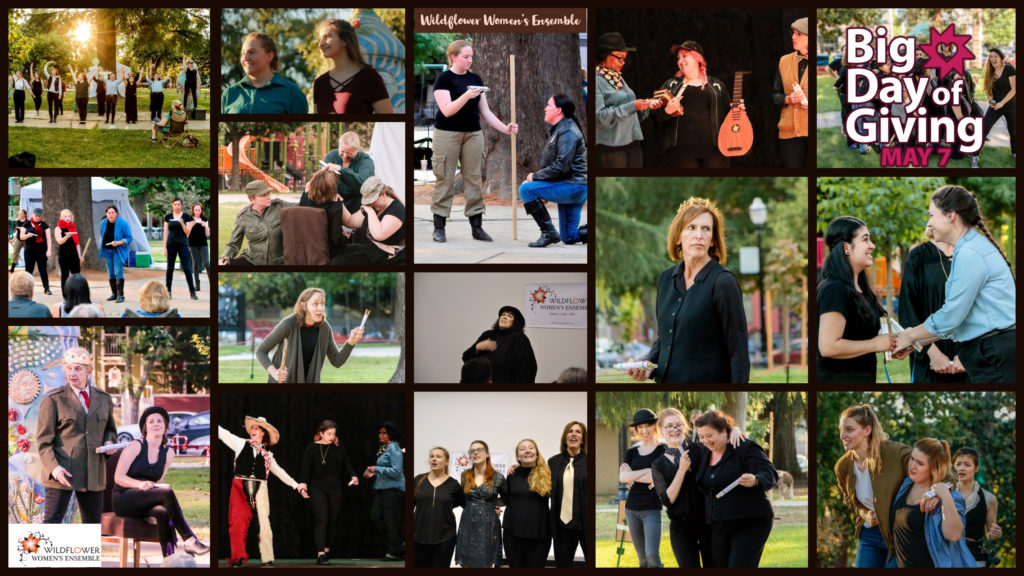 Big Day of Giving Collage of Wildflower Ensemble actors